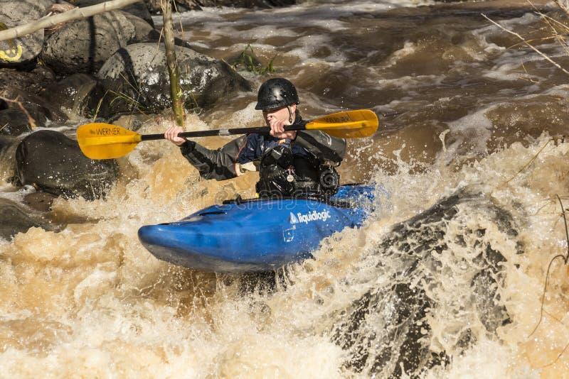 Kayaker стоковое изображение rf
