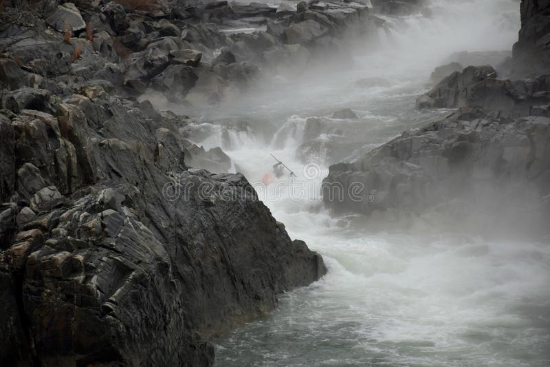 Kayaker auf dem Potomac stockfoto