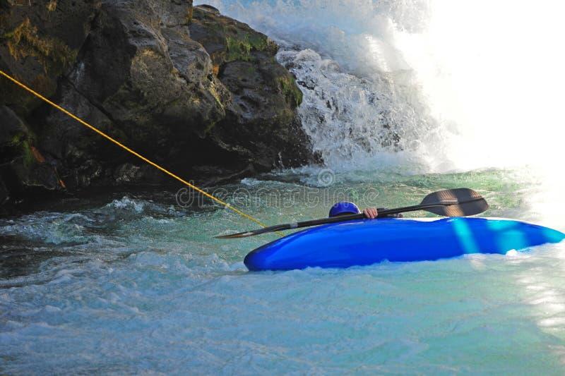 Download Kayaker Being Pulled To Safety Stock Photo - Image of rocks, kayak: 10653704