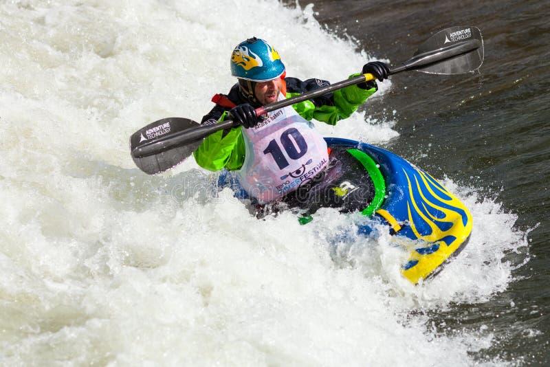 Kayaker de style libre photos libres de droits
