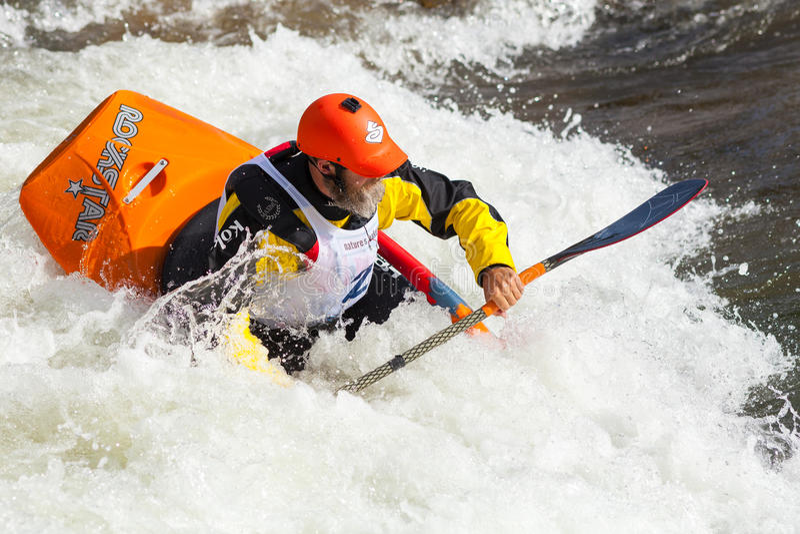 Kayaker de style libre photographie stock libre de droits