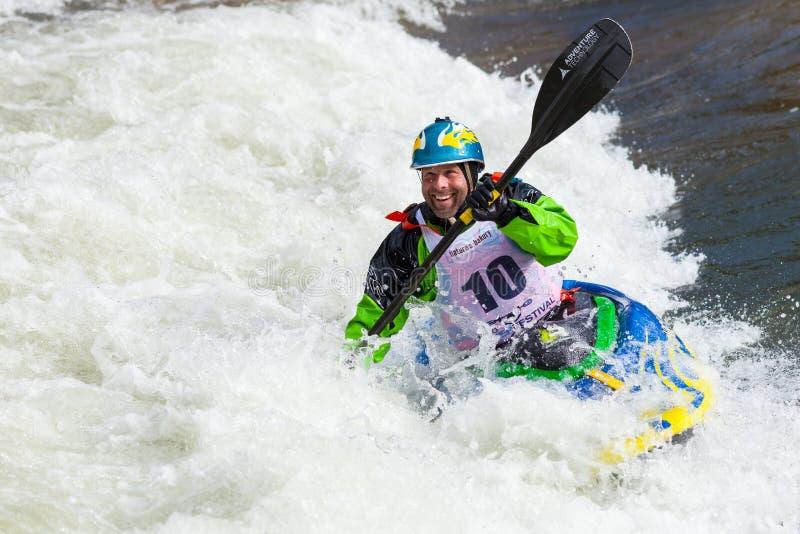 Kayaker de style libre photos stock
