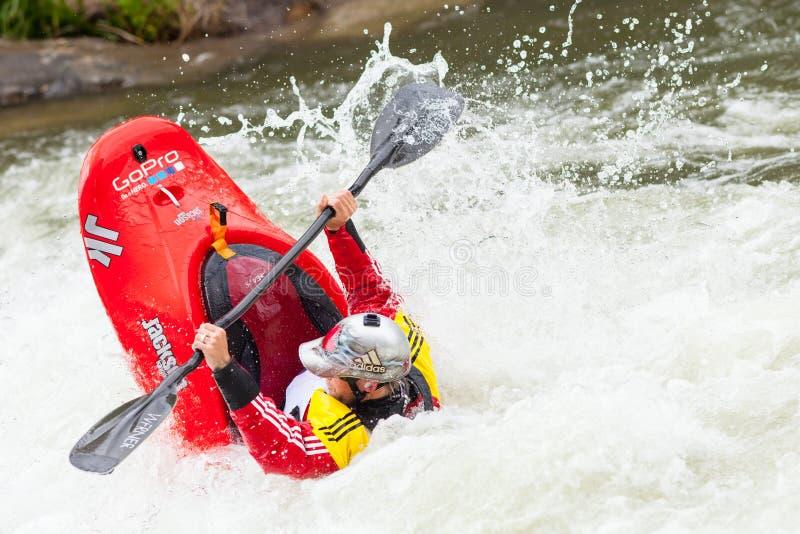 Kayaker de style libre photo stock