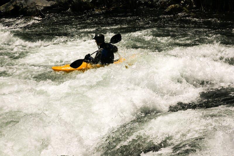 Kayaker di Whitewater immagine stock