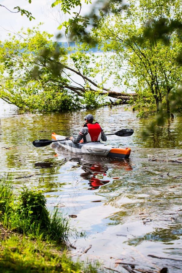 Kayaker no Ammersee imagens de stock