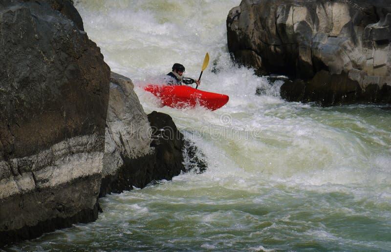 Kayaker Potomac στον ποταμό στοκ φωτογραφίες