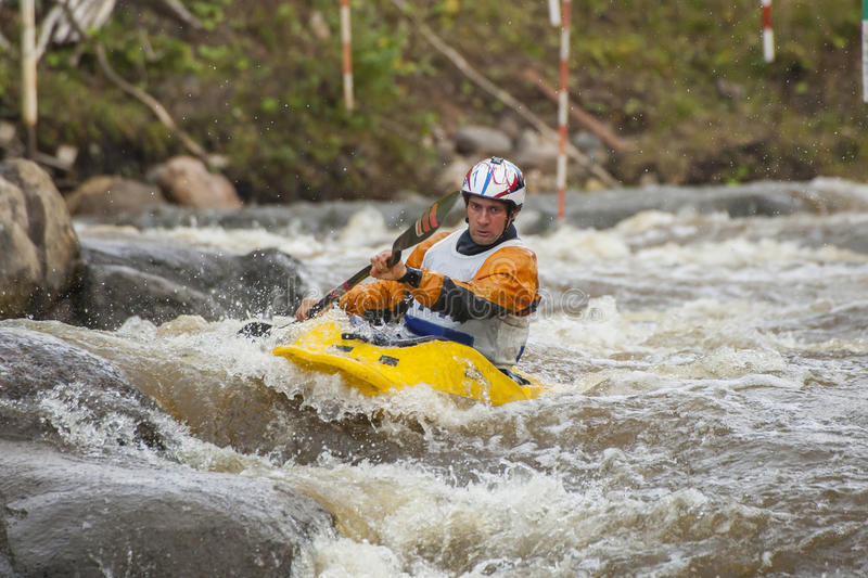 Download Kayaker's competition stock photo. Image of cold, action - 28509548