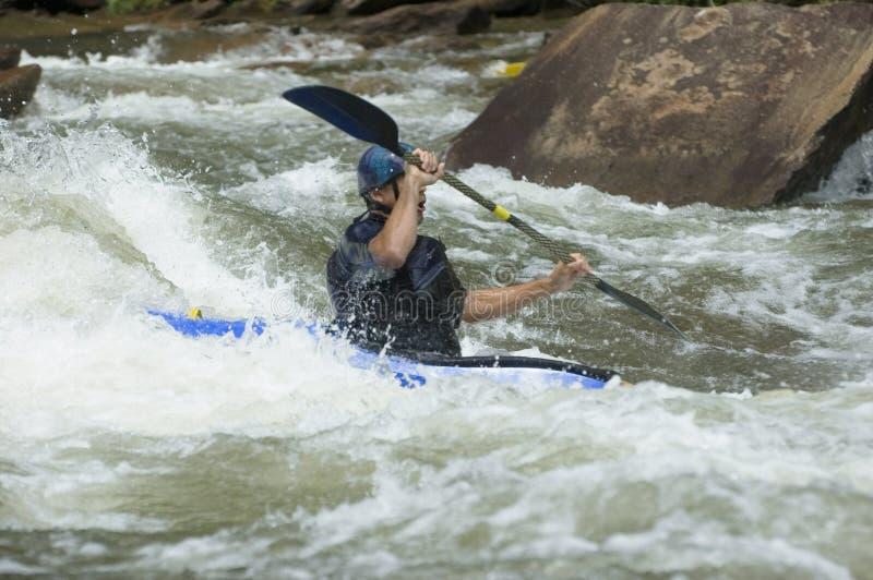 kayaker whitewater obrazy royalty free