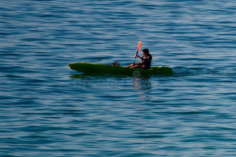 Kayaker zatoka meksykańska fotografia royalty free