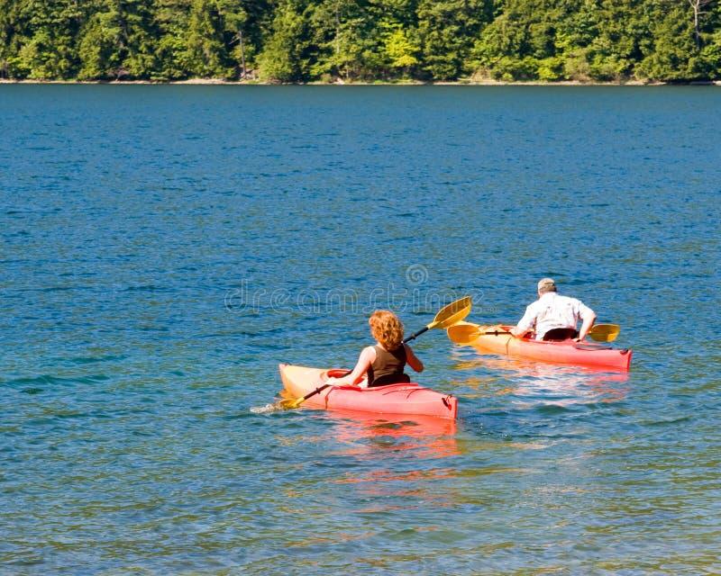kayakers zdjęcia stock