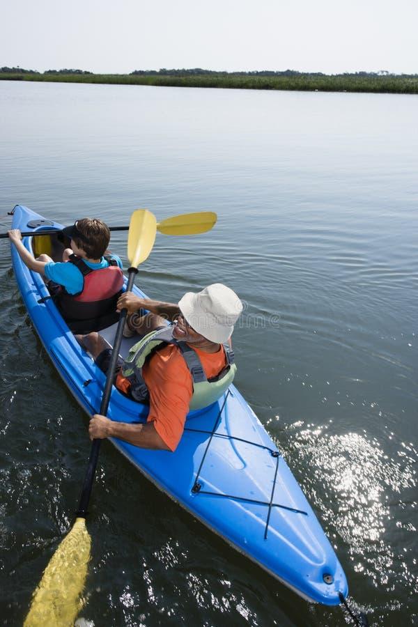 Download Kayakers. stock photo. Image of copy, angle, half, american - 3470618