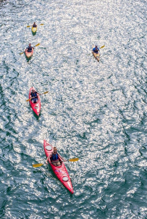 Kayakers stock afbeelding