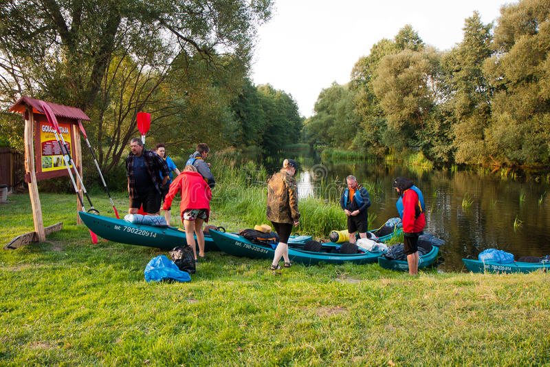 Kayakers lizenzfreie stockfotos