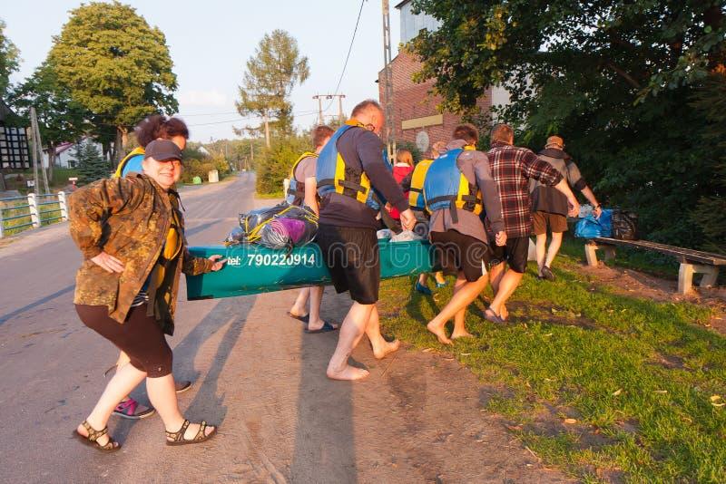 Kayakers stockfotos
