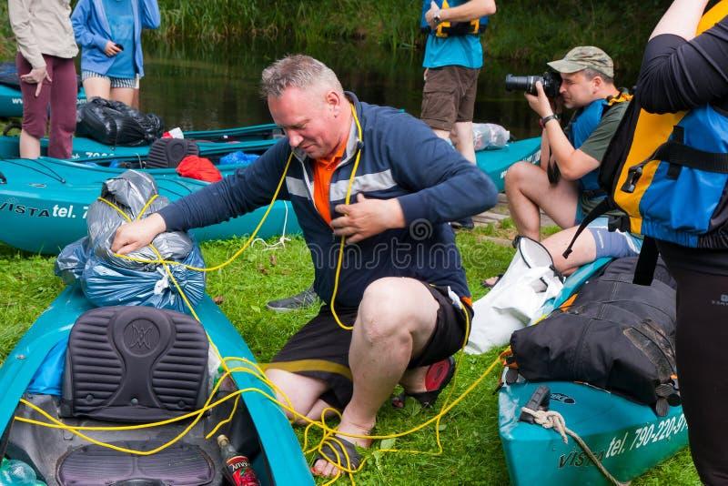 Kayakers stockbilder