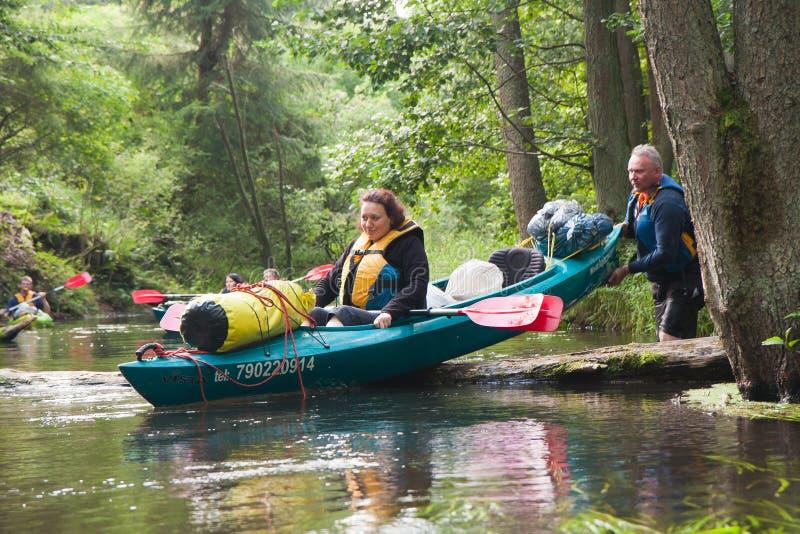 Kayakers stockfoto