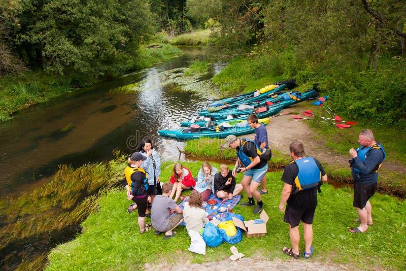 Kayakers stockfotografie