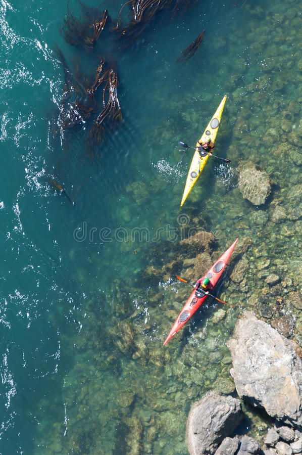 Kayakers obrazy royalty free