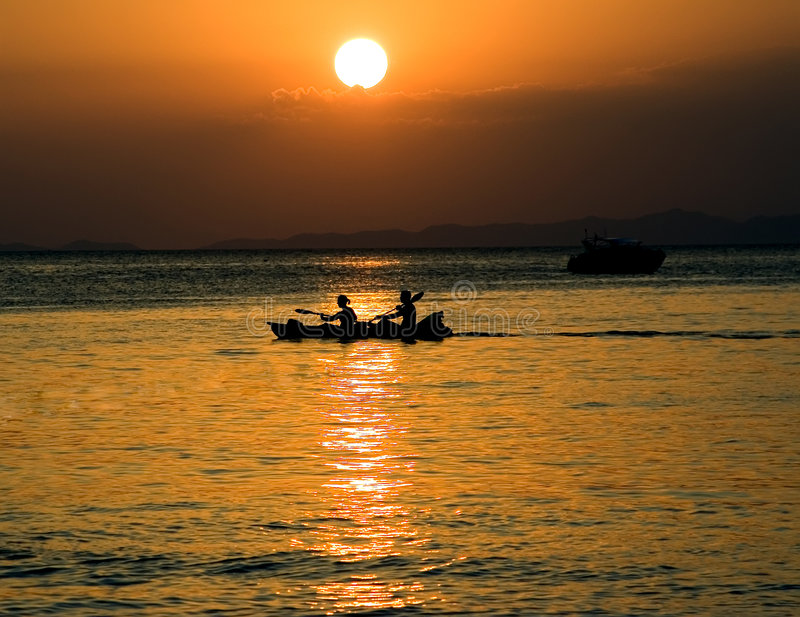 Kayakers lizenzfreie stockfotografie