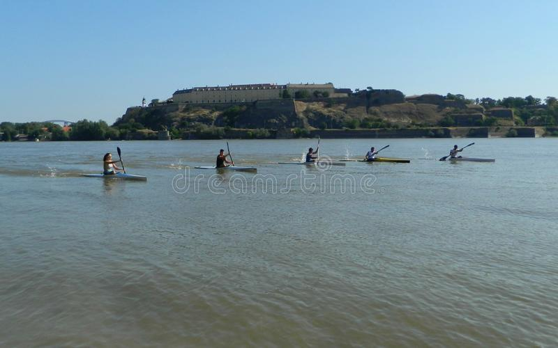 Kayakers стоковые фото