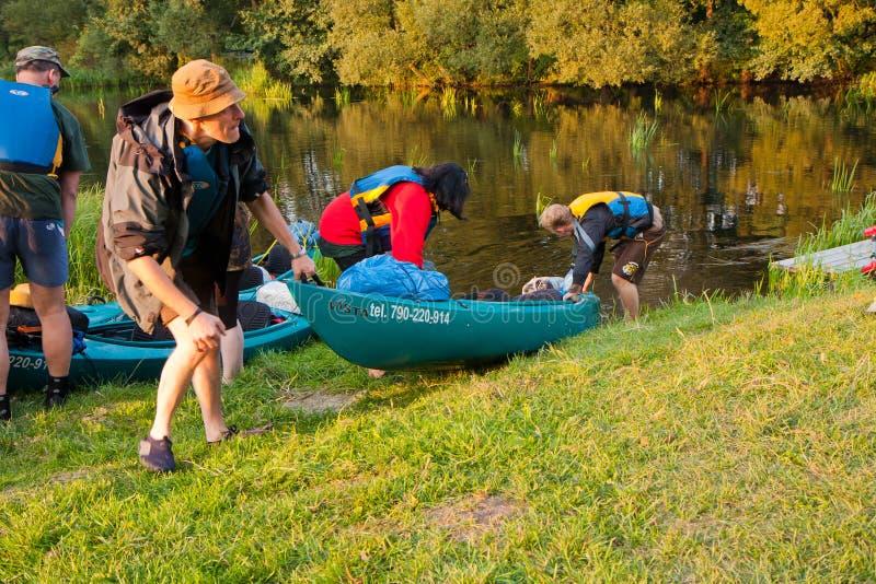 Kayakers royalty free stock photos