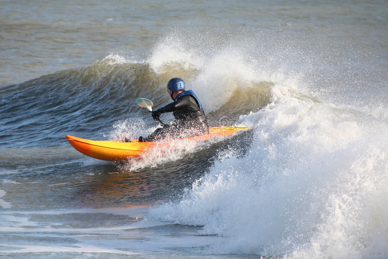 kayaking θάλασσα στοκ φωτογραφία με δικαίωμα ελεύθερης χρήσης