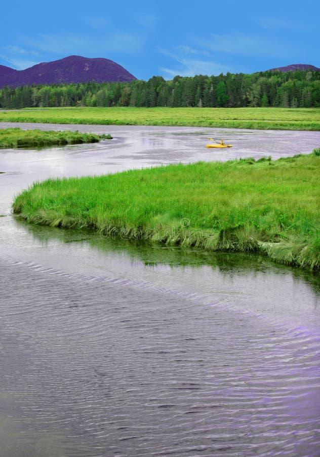 Kayaking στο εθνικό πάρκο Acadia στοκ εικόνα