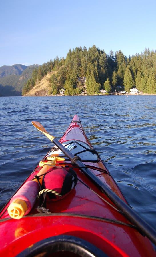 kayaking бухточки глубокий стоковая фотография rf