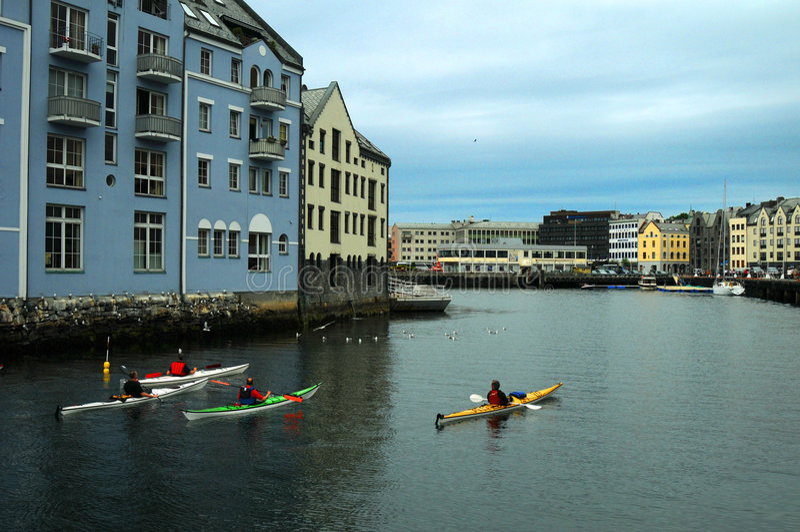 kayaking Норвегия стоковая фотография