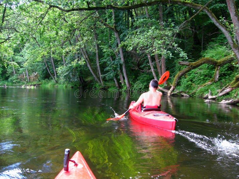 Kayaking imagem de stock