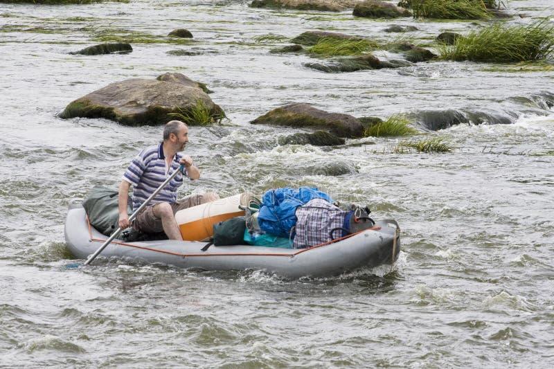 Kayaking royalty-vrije stock foto's