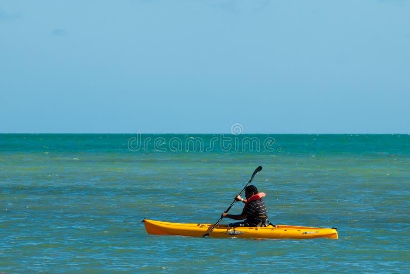 Kayaking fotografia royalty free