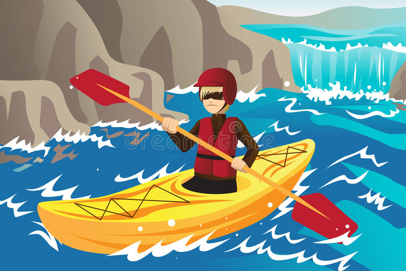 Kayaking stock abbildung