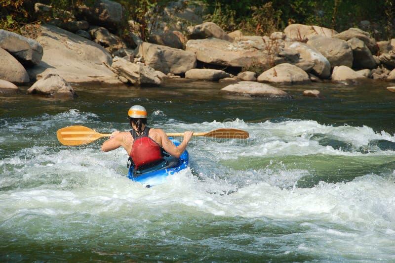 Kayaking stock afbeeldingen