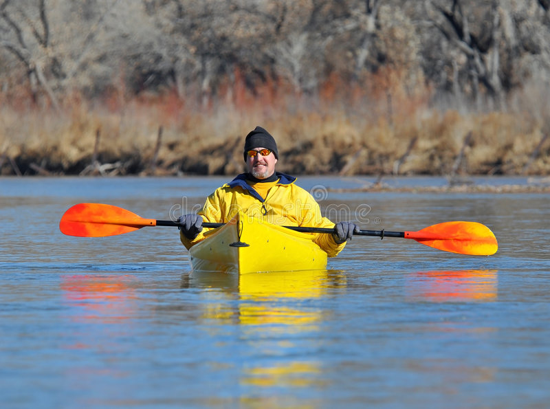Kayaking zdjęcie royalty free