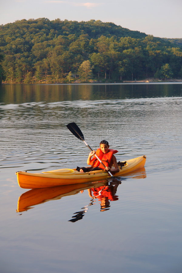 Kayaking fotografie stock libere da diritti