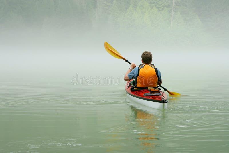 Kayaking in Banff stockfoto