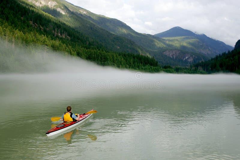 Kayaking in Banff royalty free stock photo