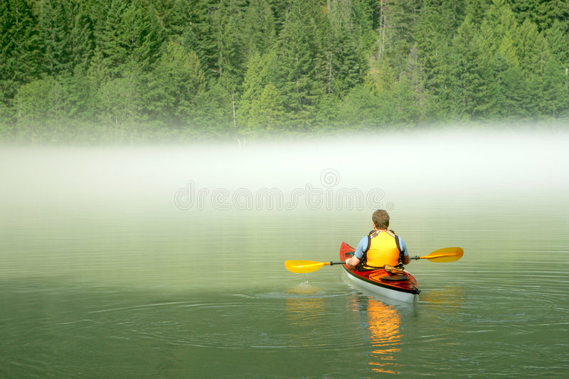 Kayaking in Banff stock photo