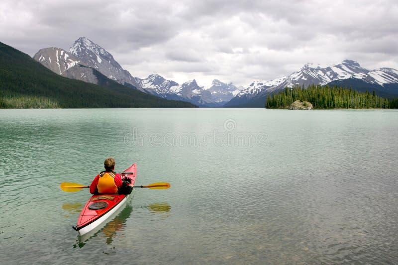 Kayaking in Banff stock fotografie