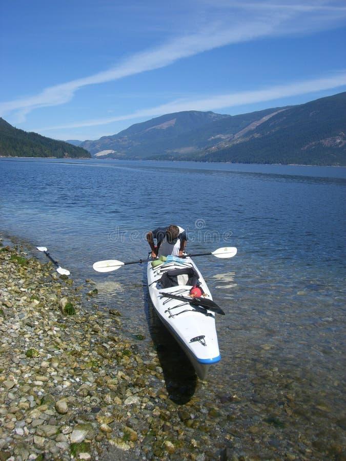 Kayaking Break Stock Images