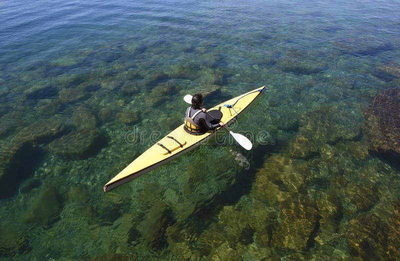Kayaking dans le Patagonia image stock
