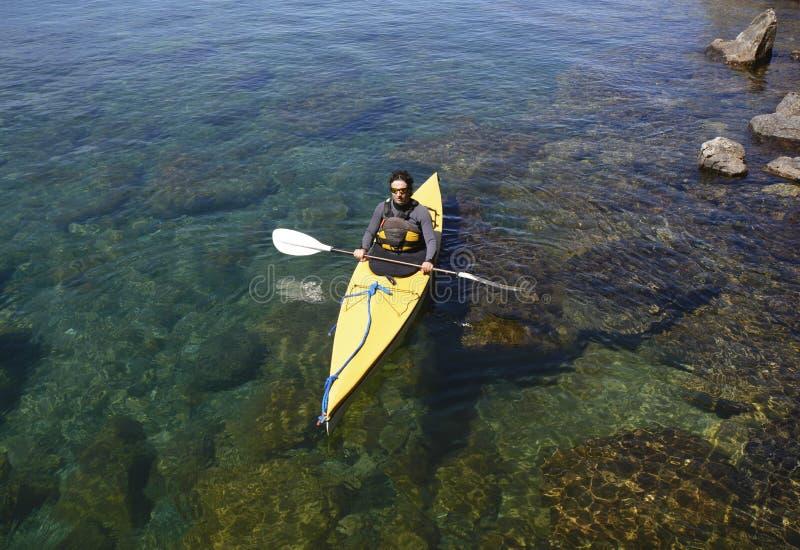 Kayaking dans le Patagonia image libre de droits