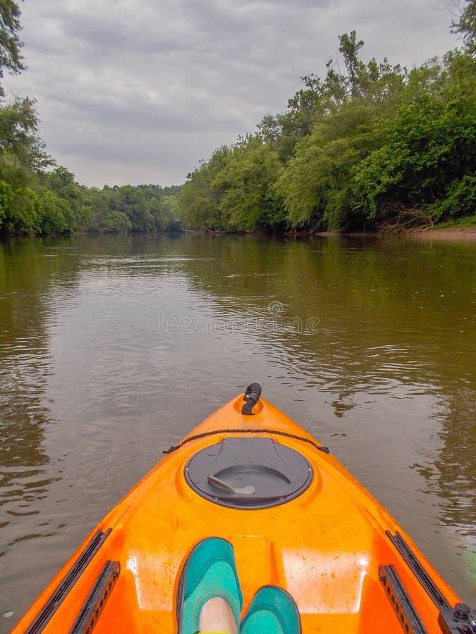 Kayaking em Dan River imagem de stock royalty free