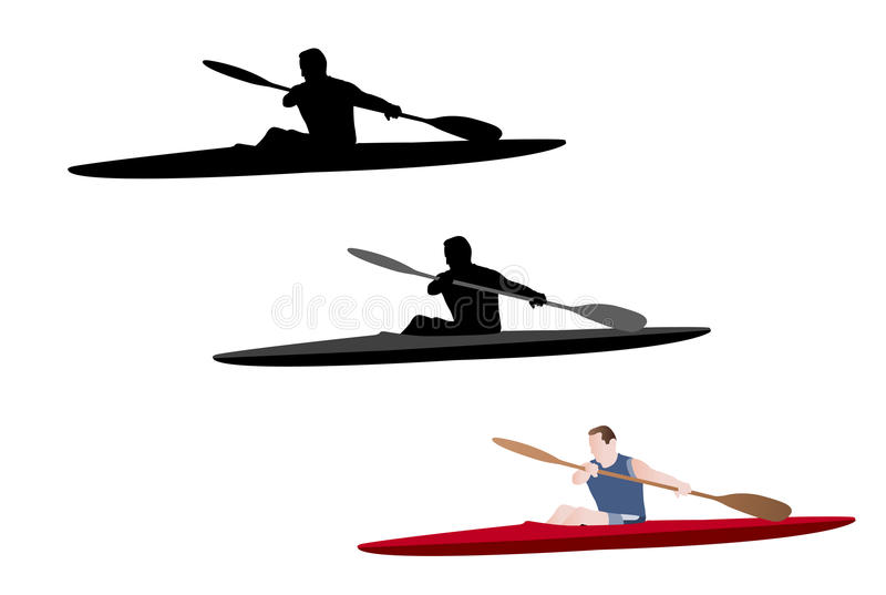 Kayaking ilustracja ilustracji
