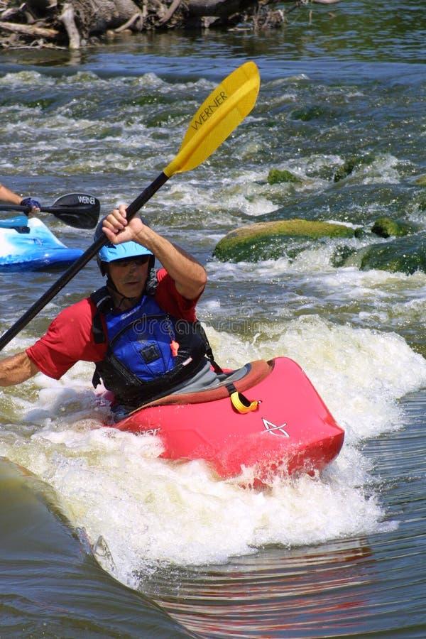 Kayaking los rápidos I 2018 imagen de archivo libre de regalías