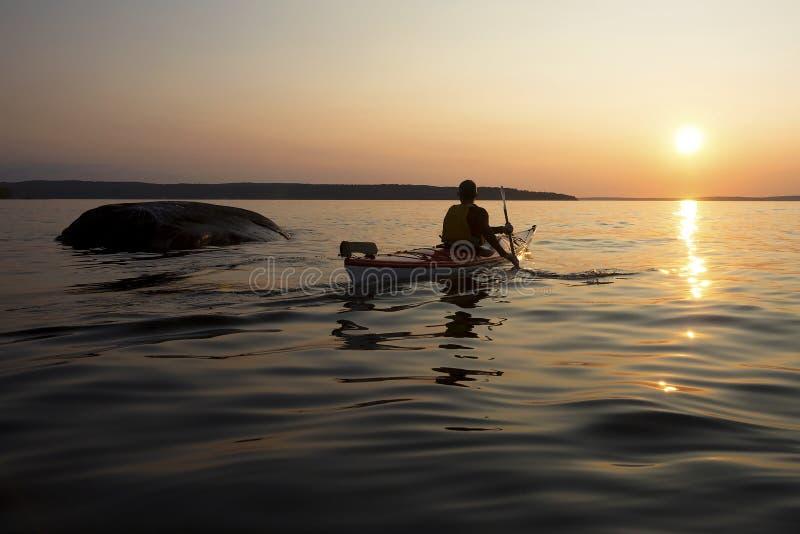 Kayaking 30 mil islas - bahía georgiana imagen de archivo libre de regalías