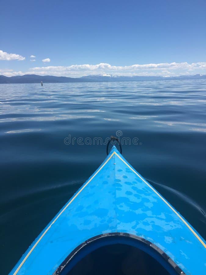 Kayaking na letnim dniu fotografia stock
