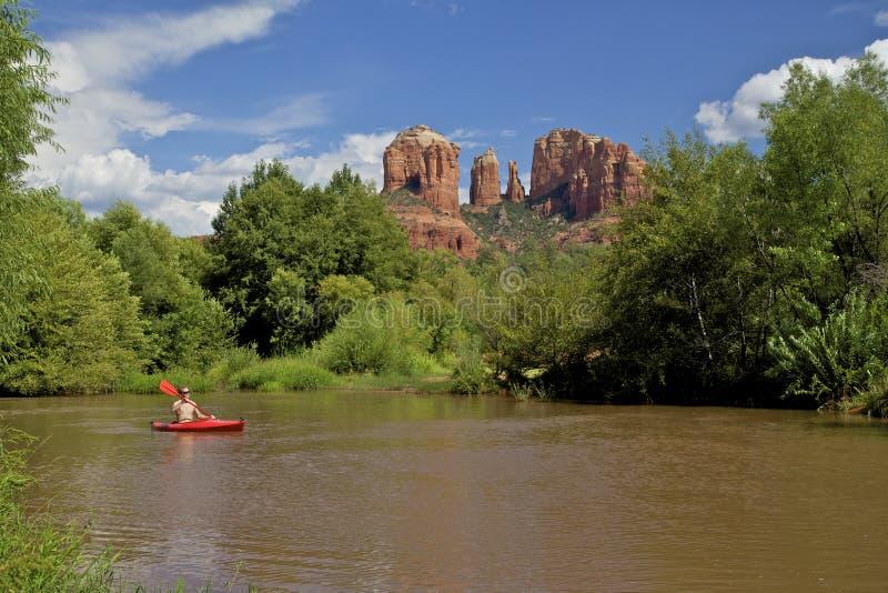 Download Kayaking Near Cathedral Rock Royalty Free Stock Photo - Image: 26348385