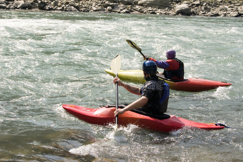 kayaking nepal royaltyfri foto